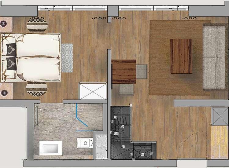 Grundriss Apartment Nr. 2   CLASSIC