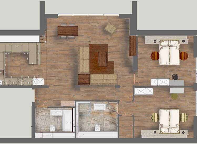 Grundriss Apartments Nr. 10+21 | SUITE