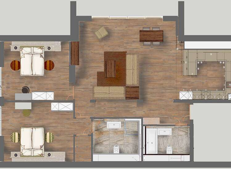 Grundriss Apartments Nr. 11+22 | SUITE