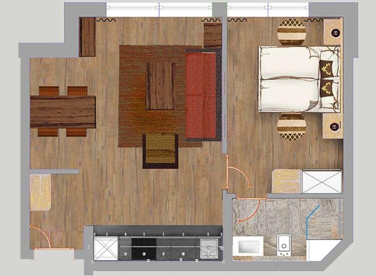 Grundriss Apartment Nr. 13 | SUPERIOR