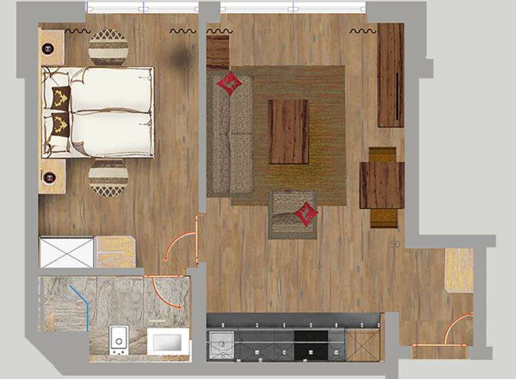 Grundriss Apartments Nr. 3, 8+19 | SUPERIOR