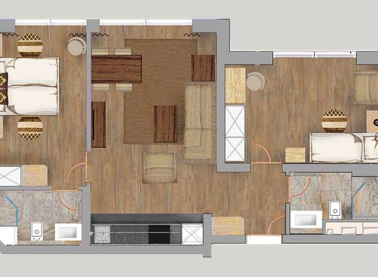Grundriss Apartments Nr. 14 | SUPERIOR