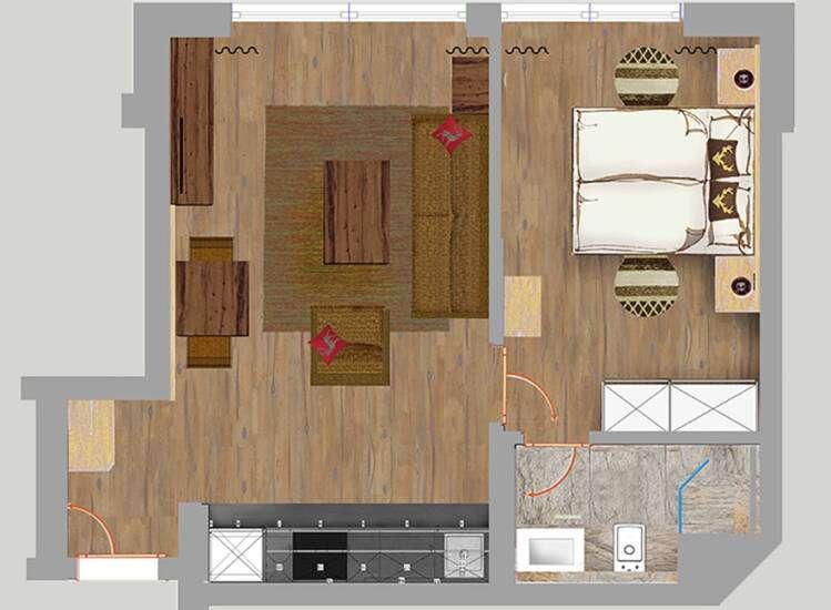 Grundriss Apartments Nr. 6+17 | SUPERIOR