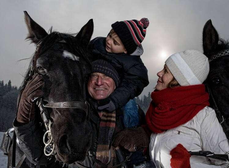 Winter in Garmisch Pferde