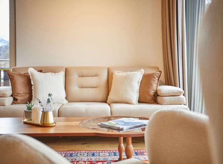 Wohnbereich Couch Apartmentslider Übersicht
